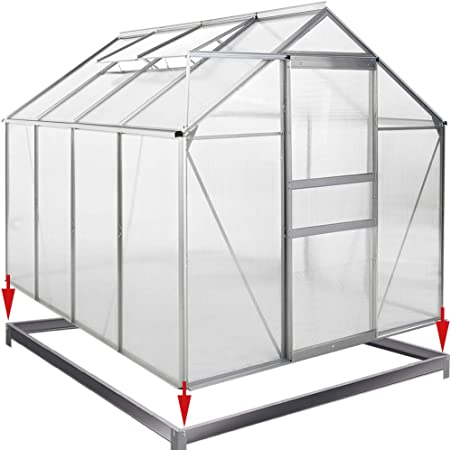 Palram Mythos Serre De Jardin Polycarbonate Protege Contre Le Solaire Et Cadre En Aluminium Base Inclue Argent Amazon Fr Jardin