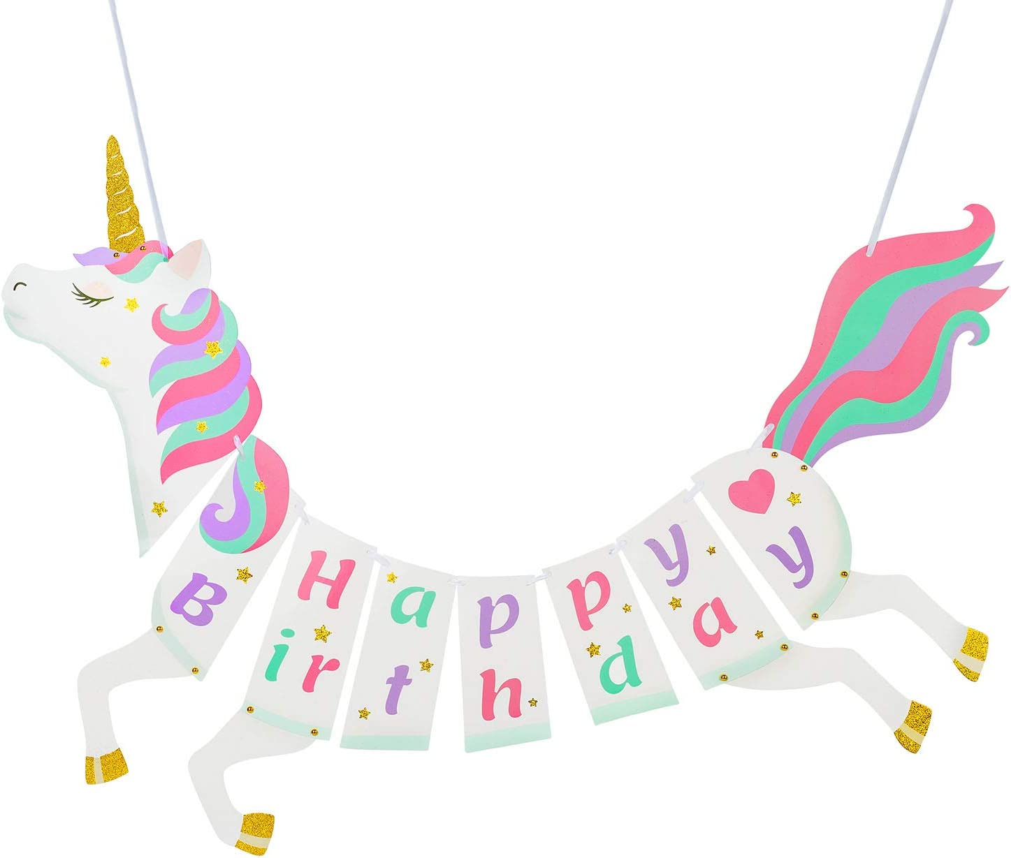 Unicorn birthday banner Unicorn decorations First Birthday Decorations Unicorn banner UnicornHappy Birthday Banner Unicorn party