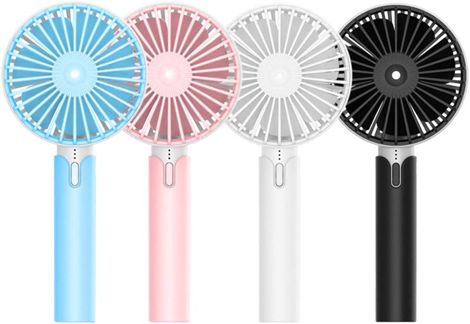 Personal Portable Desk Stroller Table Fan with USB Rechargeable Battery Operated Cooling Folding Electric Fan for Office Room Outdoor Household Traveling Mini Handheld Fan with 3 Speed Black