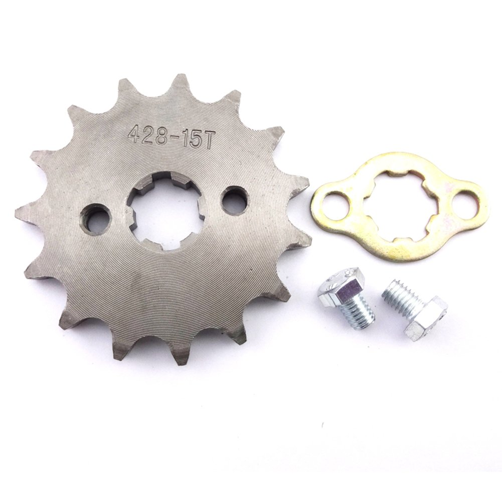 stoneder 428/15/dientes 17/mm frontal cadena pi/ñ/ón Gear para 50/cc 70/cc 90/cc 110/cc 125/cc 140/cc 150/cc 160/cc motor ATV Quad Pit Suciedad Trail para bicicleta