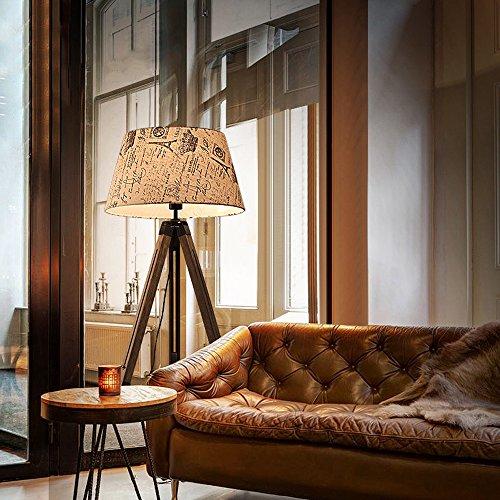 Stehlampe Gluckstein Led Stehleuchte Vintage Mit Textil Schirm Und