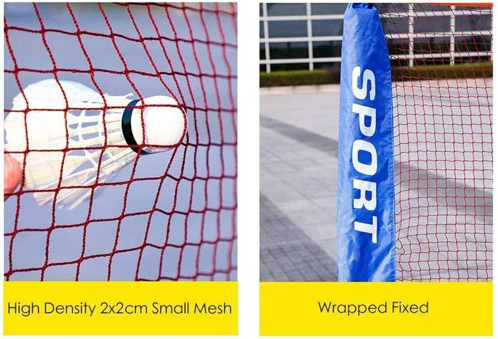 QISE Filet de badminton portable avec sac de transport pliable pour volleyball de tennis Installation facile pour ext/érieur//int/érieur sans outils ni piquets arri/ère-cour de badminton