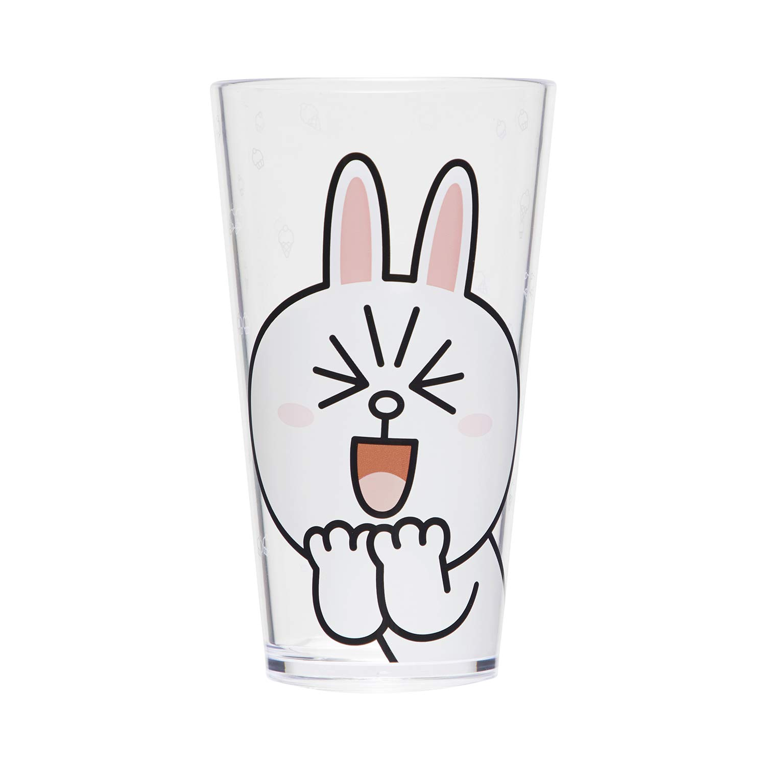 Line Friends Plastic Drinking Cups - 2 Sets of 18.5 ounce CONY Character Design Acrylic Water Tumblers