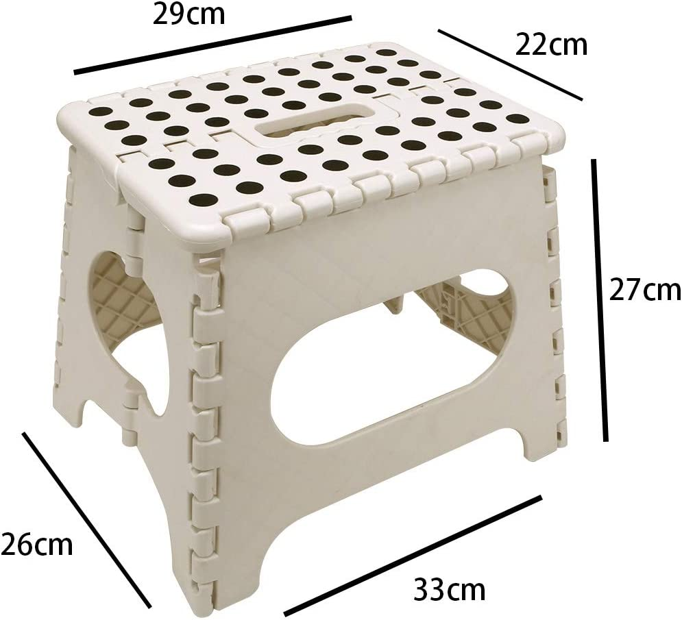 Chanhan Folding Step Stool Kitchen Stepping Stools Lightweight Step Stool Garden Step Stool Enough to Support Adults and Safe Enough for Kids Great for Kitchen Bathroom Bedroom Kids or Adults