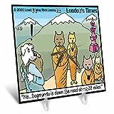 Cheap Londons Times Funny Dogs Cartoons – Dogmandu, Very Near Katmandu – 6×6 Desk Clock (dc_1480_1)