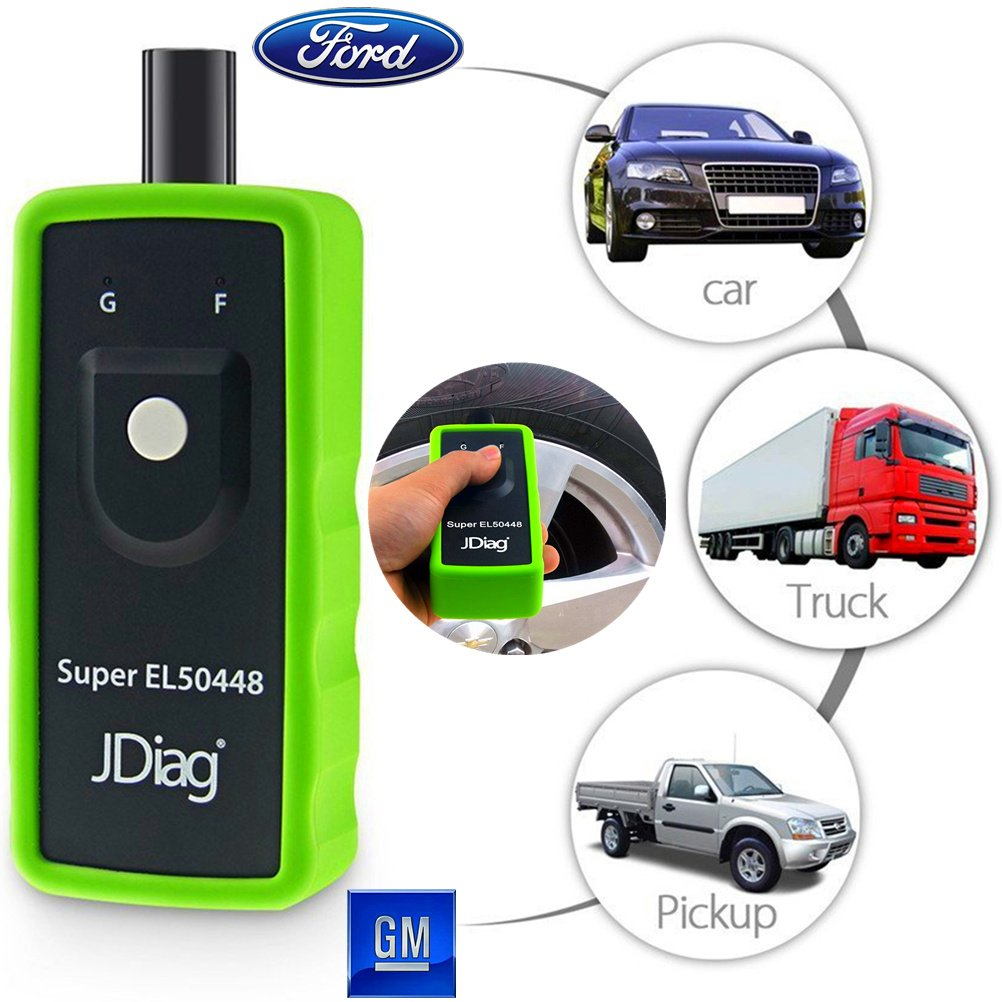 VXSCAN JDiag FasTPMS Super EL-50448 Auto Tire Pressure Monitor Sensor TPMS Relearn Reset Activation Tool for GM Chevy Buick GMC etc and Ford Motorcraft Lincoln Mercury Series Vehicle