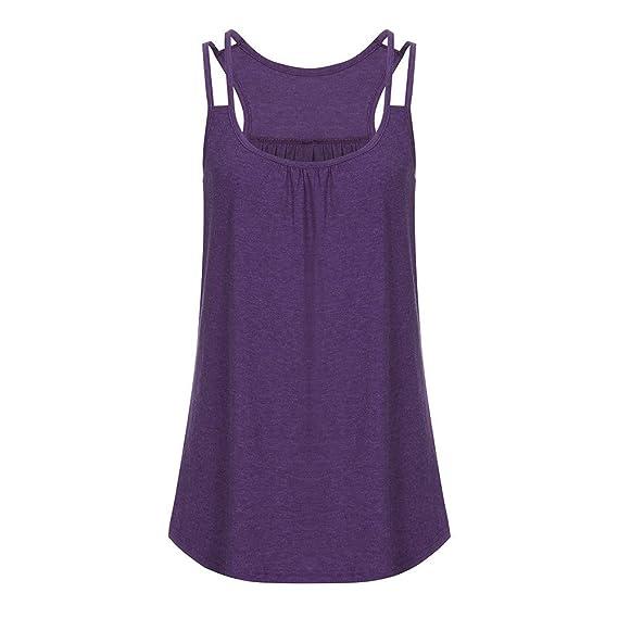 8064f7327444 Camisetas Sin Mangas para Mujer Blusa Mujer ️️Camisas Elegante de ...