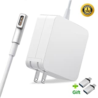 Macbook Pro Charger, Replacement 60W Power Magsafe 1 Magnetic L-Tip Power Adapter Charger For Macbook Pro 13-inch (Before Mid 2012 Models)