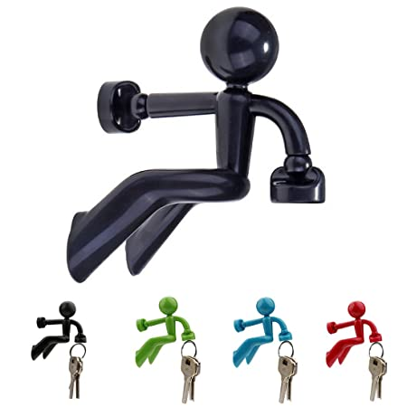 A SZCXTOP Key Pete Strong Magnetic Key Holder Hook Novelty Wall Climbing  Strong Magnetic Man