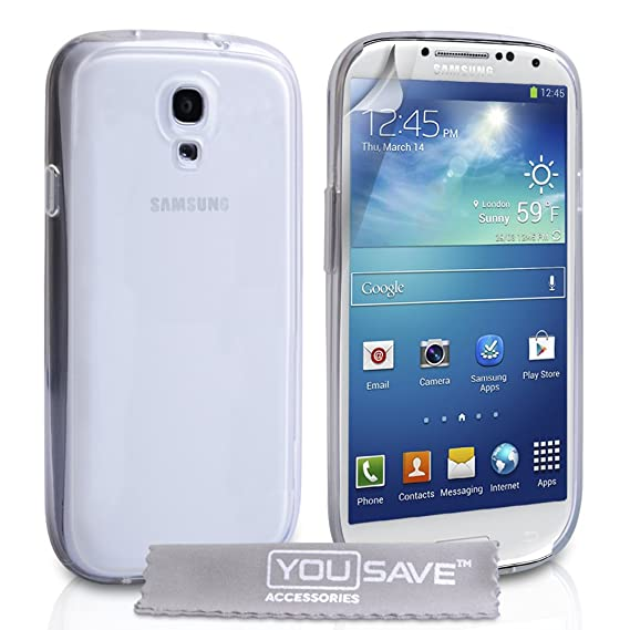 100% authentic 72bf9 8089d Samsung Galaxy S4 Case Crystal Clear Hard Back Hybrid Cover