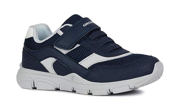 Geox New Torque Boy J847NA Jungen Slip-on Sneaker,Kinder Halbschuh,Sportschuh,Slipper,Gummizug,Klettverschuss
