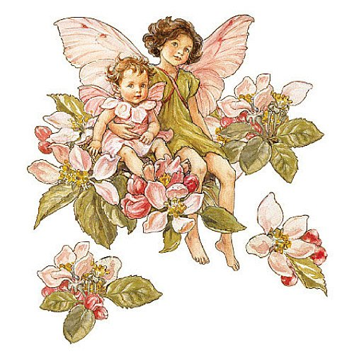 Wallies 12955 Apple Blossom Flower Fairies Wallpaper Cutout