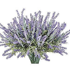KLEMOO Artificial Lavender Flowers Plant 4 Piece Bundle for Wedding Decor and Table Centerpieces, Brighten up Your Home Kitchen Garden Indoor Outdoor 96