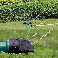 FiedFikt - Aspersor de césped automático para jardín, riego de césped, rotación de 360º, aspersor de base circular: Amazon.es: Hogar