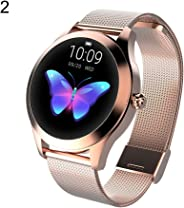 dulawei3 Women Fashion Round Screen Smart Wristband Watch with Activity Tracking Blood Pressur GPS Fitness Ultra-Long Battery