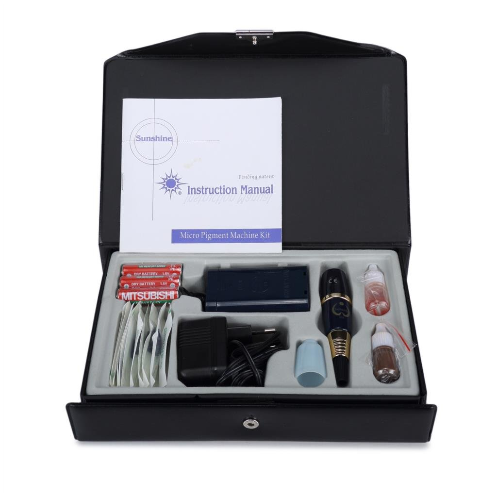 Semi-Permanent Tattoo Machine Kit For Eyebrow and Lip Munsu Makeup With Tattoo Gun and Needles