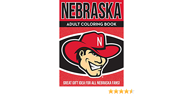 Sports Team Adult Coloring Books Volume 1 NCAA Nebraska Cornhuskers Adult Coloring Bookncaa Adult Coloring Book Red 96 Coloring Pages