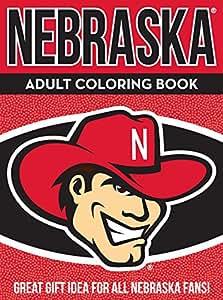 NCAA Nebraska Cornhuskers Unisex Adult Coloring Bookncaa Adult Coloring Book, Red, 96 Coloring Pages