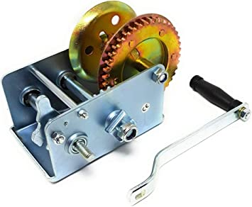 Dwt Germany 101130 900 Kg Handseilwinde Ce Stahlseil Ratschen Mechanismus Seilwinde Hand Winde Bootswinde Baumarkt