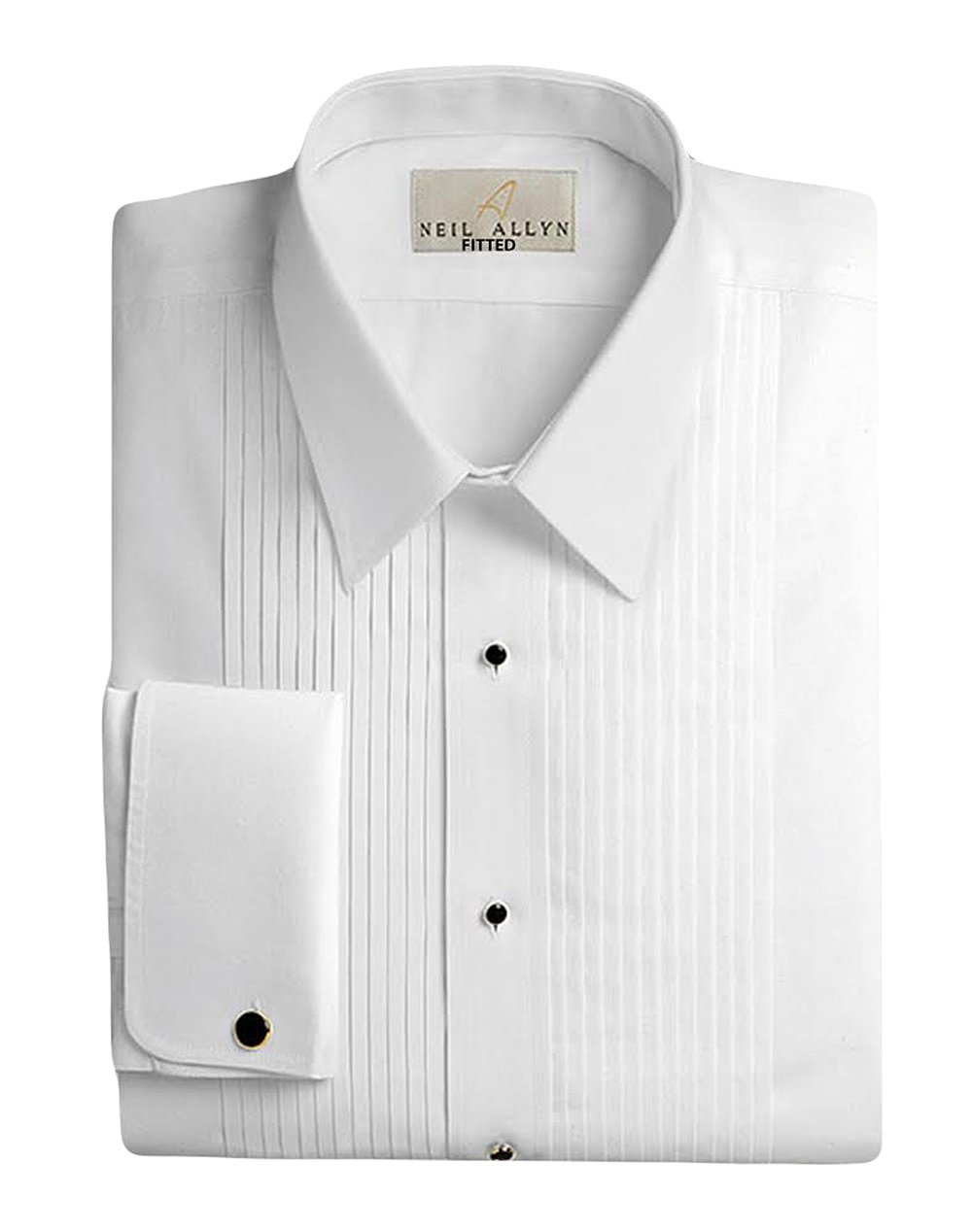 Neil Allyn Men's 100% Cotton Tuxedo Shirt, Slim Fit, 17 (36/37) by Neil Allyn
