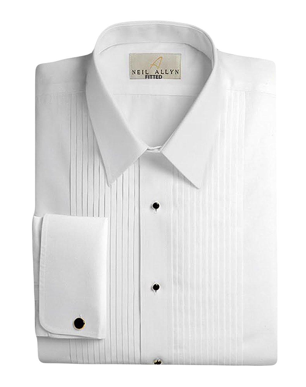 Neil Allyn Men's 100% Cotton Tuxedo Shirt, Slim Fit, 15.5 (34/35)