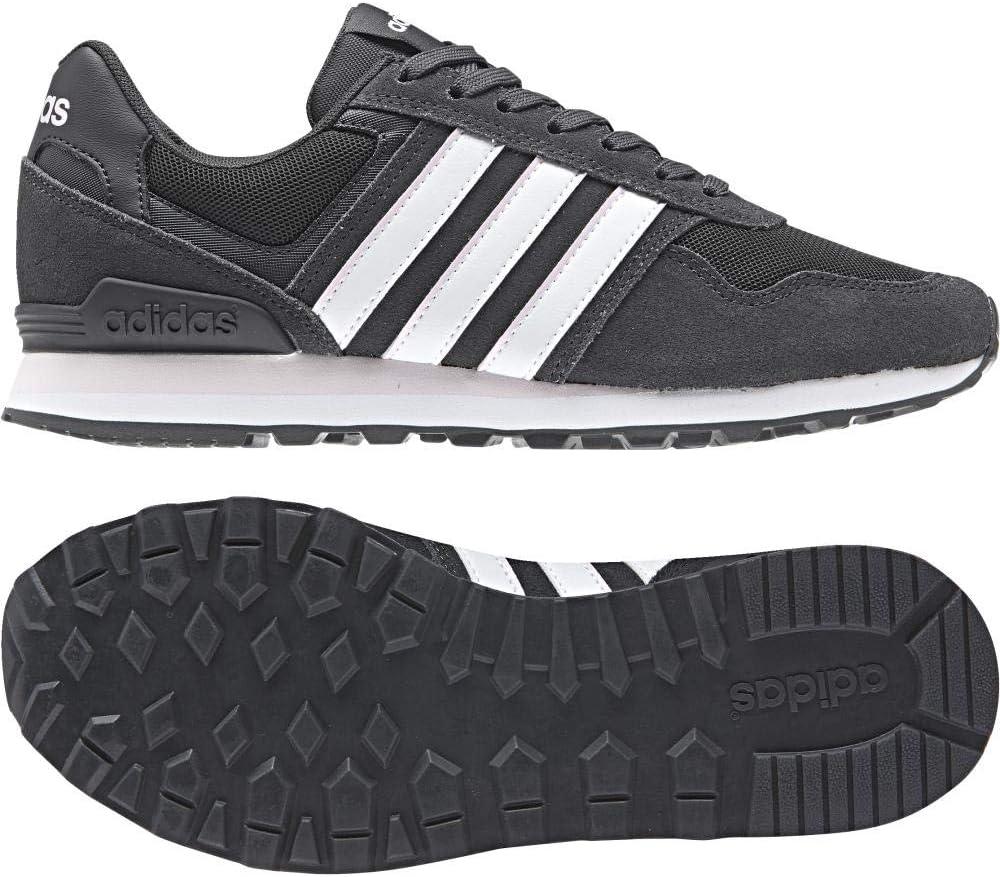 adidas 10K w Running de Zapatos de Mujer–Carbon/ftwwht/aerpnk