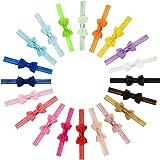 GBATERI 20pcs petites filles Hair Bow Hair Bands Bandes élastiques avec Hair Bow Bandeau bébé Pour les tout-petits pour bébés néo Accessoires photographiques pour enfants