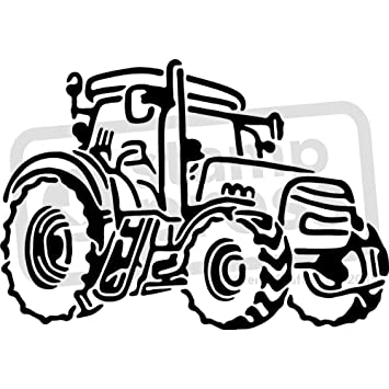 A4 Farm Traktor Wand Schablone Vorlage Ws00029867 Amazon De