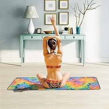 ChYoung Microfibra Antideslizante Plegable Estera de Yoga ...