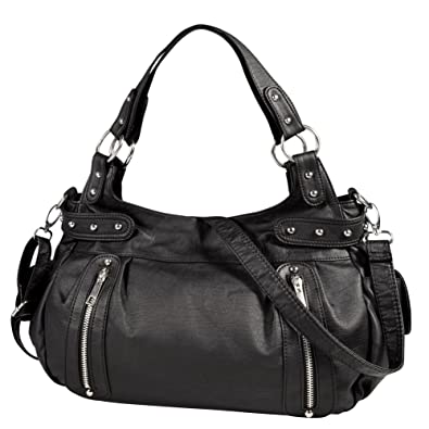 Vbiger Casual Handbag Zippers Shoulder & Cross Body & Messenger Bag (Black)