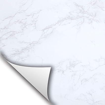 Wallstickery White Grey Granite Matte Marble Paper Self Adhesive