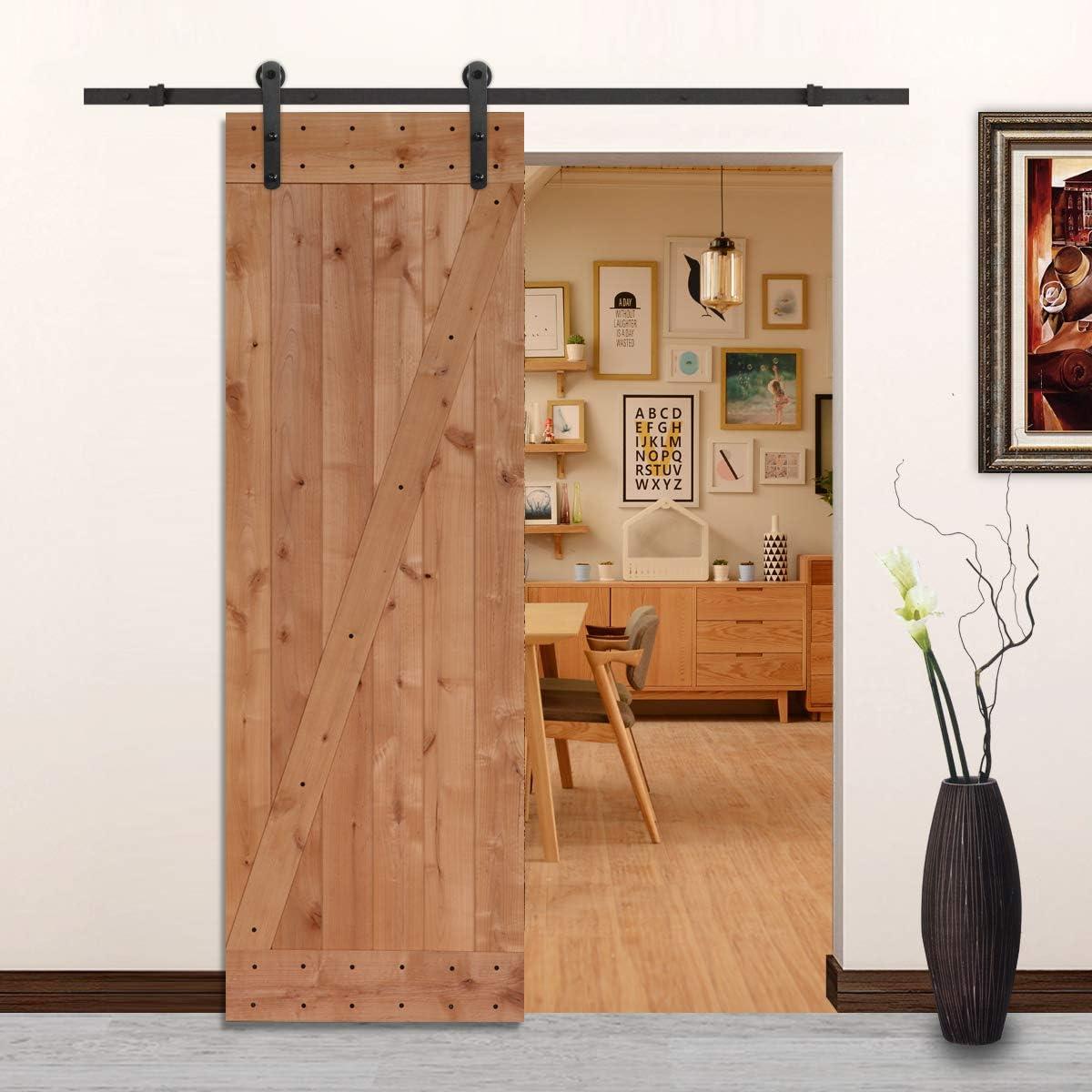 LUBANN - Lámina de madera maciza para puerta, diseño rústico ...