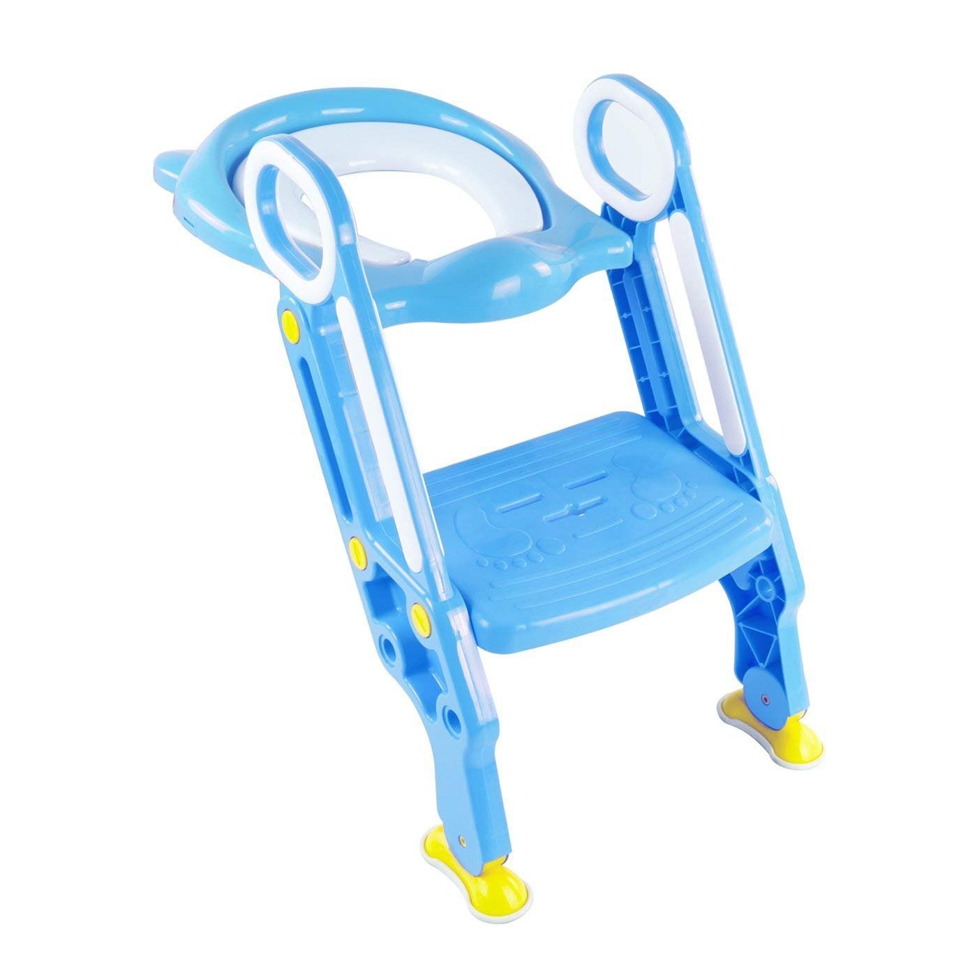 SQ PRO azul Teddie Baby formación escalera orinal Asiento para inodoro con pasos SQ Professional Pro Blue