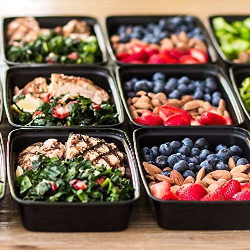 Meal Prep Containers 1 Compartment - Plastic Food Containers for Meal Prepping - Lunch Containers Food Prep Containers