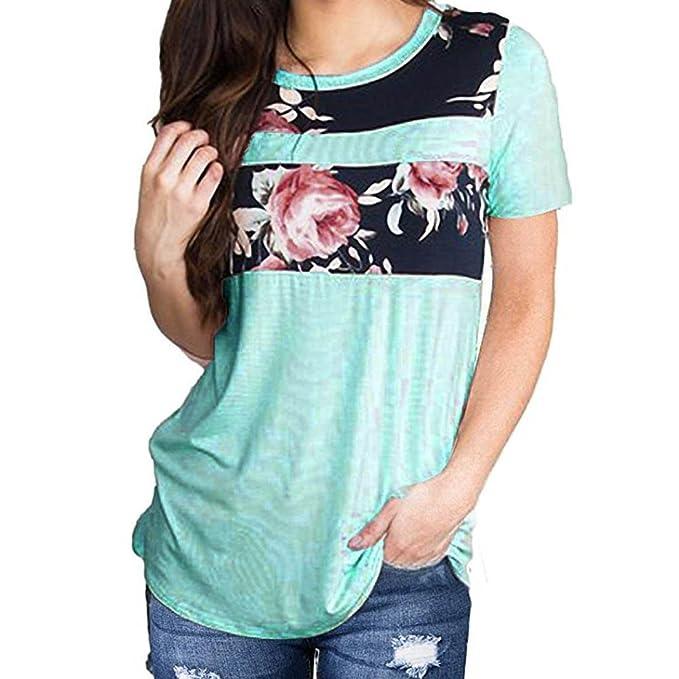 Amazon.com: Verano para Mujer de Moda Casual Impresión ...
