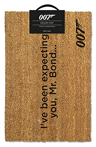 James Bond Official Ive Been Expecting You Door Mat Coir Multi-Colour 40 x 60 cm Pyramid International