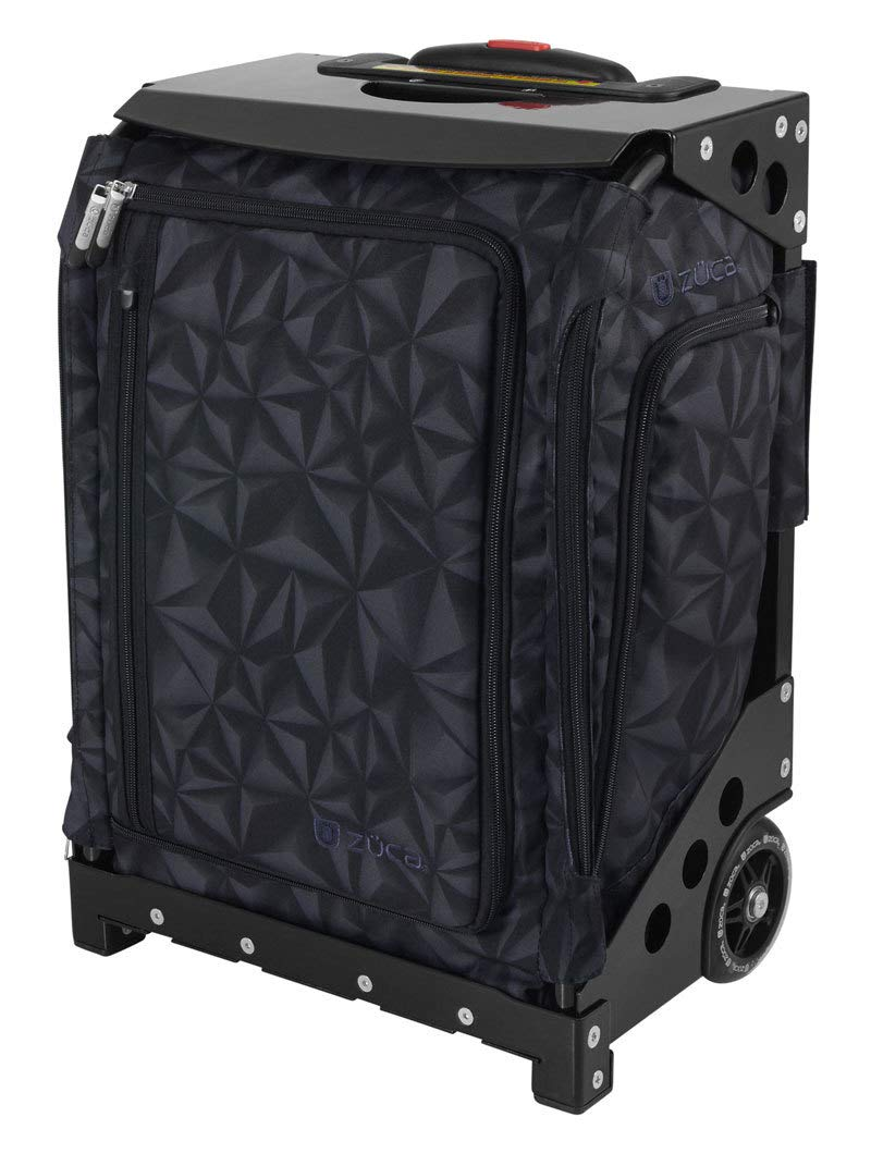 ZUCA Navigator Carry-On Bag with Built-in Seat, Strata Black Print, Black Frame