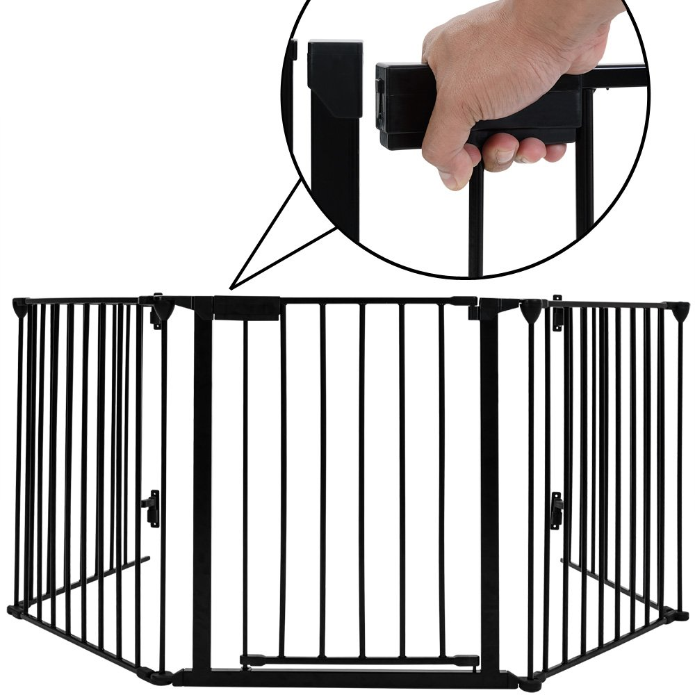Deuba Heavy Fire Guard Child Safety Oven Baby Protection Grating Fireplace Fireguard