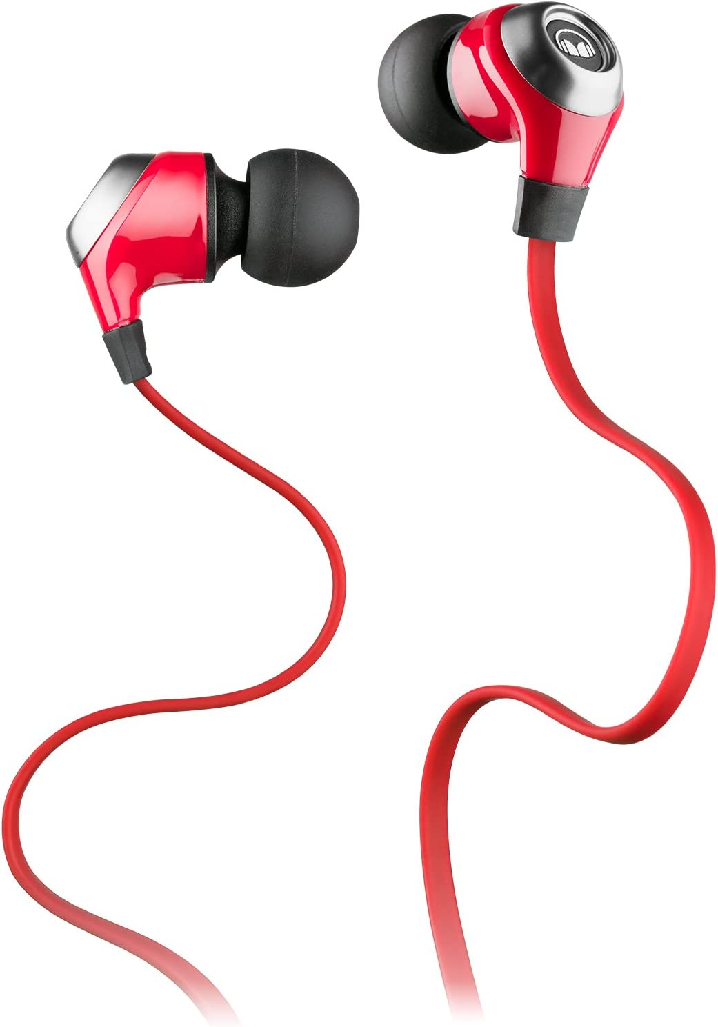 Monster N-Lite - Auriculares in-ear, color rojo