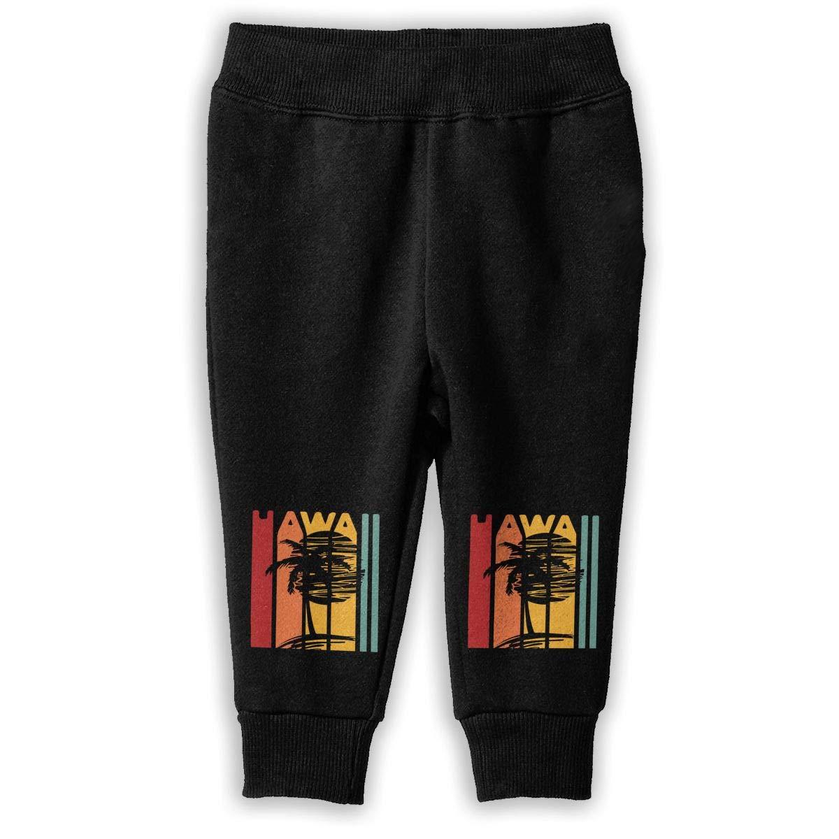 Vintage Hawaiian Sweatpants Little Girls Fleece Pants