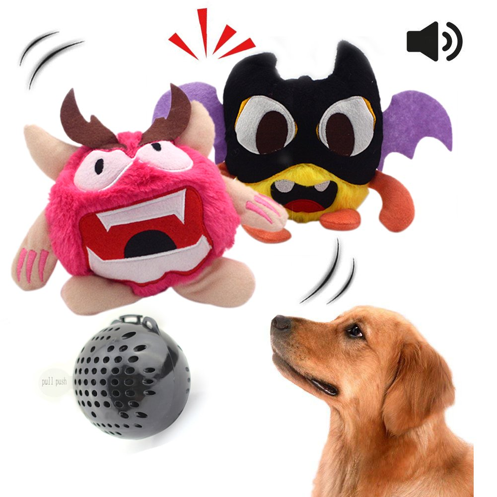 NEILDEN Dog Toys Interactive Electronic Plush Dog Toys,Squeaky Ball Automatic Electronic Shake Crazy Jump Dog Toys For Exercise Entertainment Boredom For Small to Medium Dogs for Pets 2 Covers