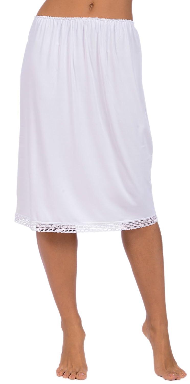 Patricia Lingerie Women's Soft Stretch Half Slip with Lace Trim 19 and 24 CKC_PLC_4251