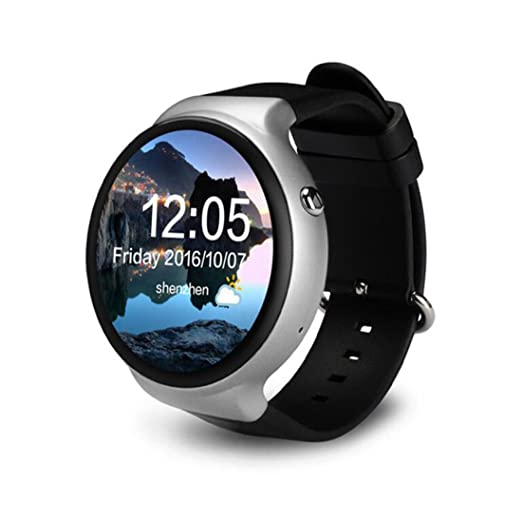 Reloj Inteligente 1G + 16G Pantalla Completa de luz Redonda 3G Tarjeta de Llamada Sleep Monitor