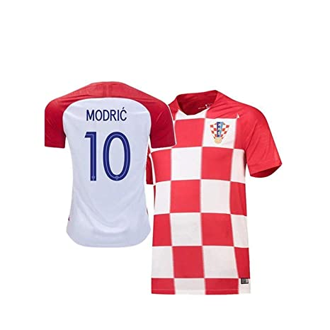 94a37244316 Image Unavailable. Image not available for. Color  Scshirt Brand 2018 World  Cup Croatian National Team Home Men s Modric Jersey ...