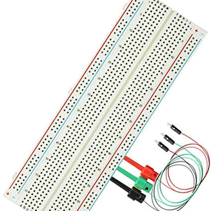 amazon com: test hook mb-102 830 point prototype pcb solderless breadboard  protoboard arduino proto shield distribution connecting blocks kit: home  audio &