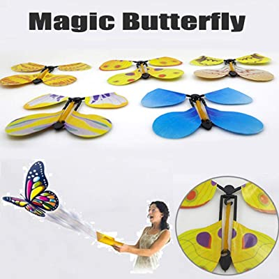 Kadola The Magic Butterfly Insert Cards or Books - Cocoon Into A Flying Butterfly, Wind-up Flying Butterflies - Pop up Flying Trick Prop Toys Child Gift Toys: Sports & Outdoors