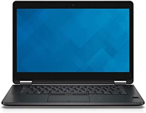 Dell Latitude E7470 QHD Touch Screen Ultrabook Business Laptop Notebook (Intel Core i7 6600U, 8GB Ram, 256GB SSD, HDMI, Camera, WiFi, Bluetooth, Cellular) Win 10 Pro (Renewed)