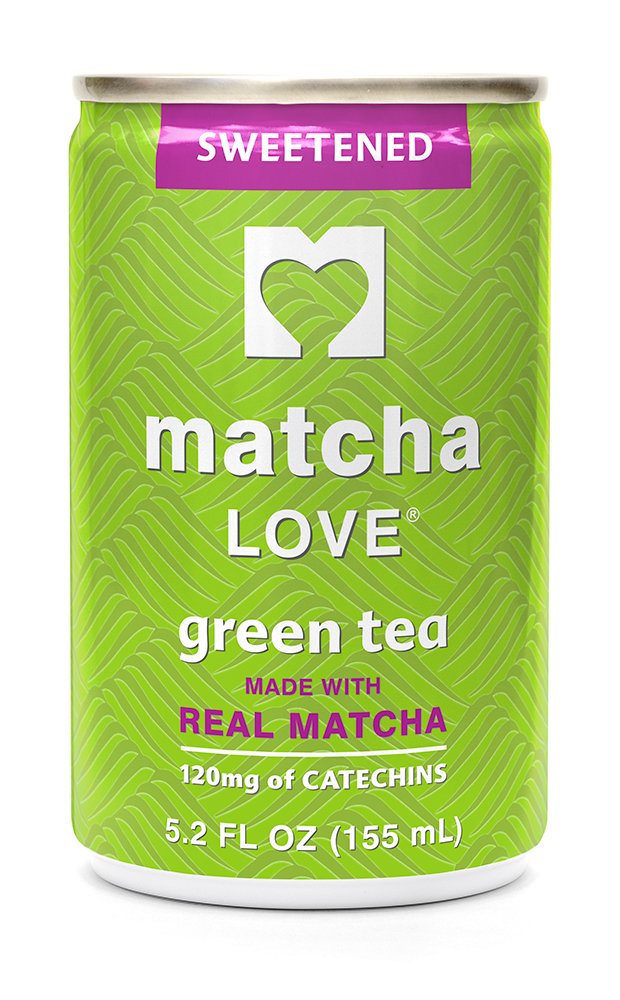 Matcha Love Green Tea, Sweetened, 5.2 Ounce (Pack of 20), Cane Sugar Sweetened, 50 Calories, No Artificial Sweeteners, Caffeinated, Good Source of Vitamin C