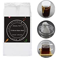 2 Pack - Cold Brew Coffee Bag - 8.6X5 Inches Ultra Fine Mesh-75 Micron Food Grade Nylon, Seamless Bottom Reusable Cold Brew Coffee Filter/Coffee Maker