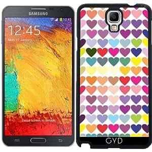 Funda para Samsung Galaxy Note 3 Neo/Lite (N7505) - Corazones Multicolores by les caprices de filles
